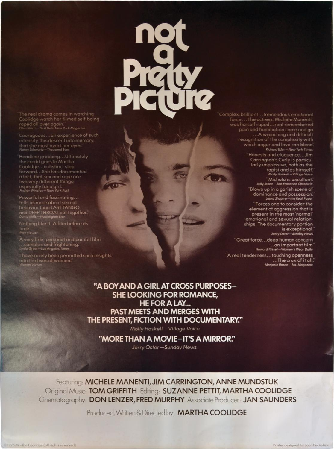 Not a Pretty Picture (Original poster for the 1976 film) by Coolidge,  Martha (director, screenwriter, producer); Amy Wright, Reed Birney  (starring): (1975) Art/Print/Poster | Royal Books,  Inc., ABAA