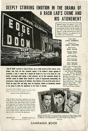 Edge of Doom (Original Film Pressbook): Brady, Leo (novel); Mark Robson (director); Philip Yordan ...