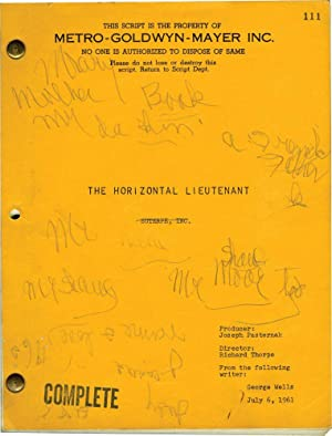 The Horizontal Lieutenant (Original screenplay for the 1962 film): Thorpe, Richard (director); ...