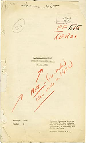 Till We Meet Again (Post-production script for the 1944 film)
