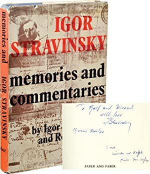 Memories and Commentaries (First UK Edition, signed by Stravinsky and Craft)