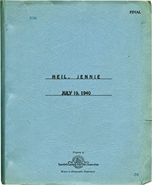 Heil, Jennie [Jennie] (Original screenplay for the 1940 film): Burton, David (director); Harold ...
