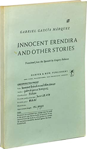 Innocent Erendira and Other Stories (Uncorrected Proof)