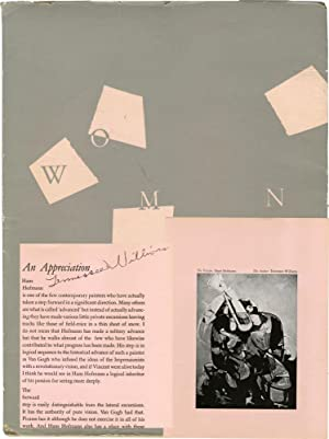 Women (First Edition, signed by Tennessee Williams): Williams, Tennessee; Paul