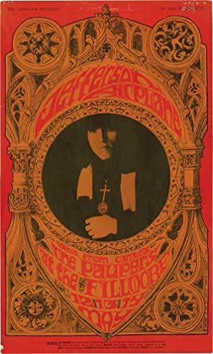 Jefferson Airplane and The Paupers at the Fillmore West, May 12-14, 1967 (Original Poster): ...