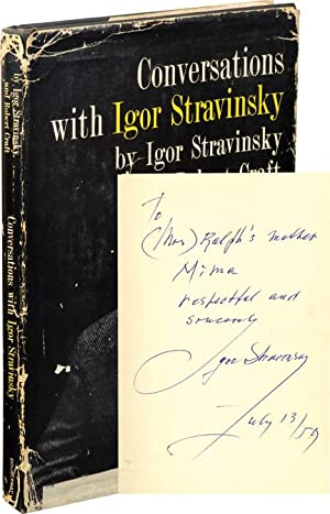 Conversations with Igor Stravinsky (Signed First Edition)