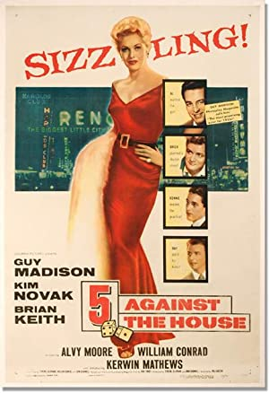 Five [5] Against the House (Original one-sheet poster): Finney, Jack (novel); Phil Karlson (...