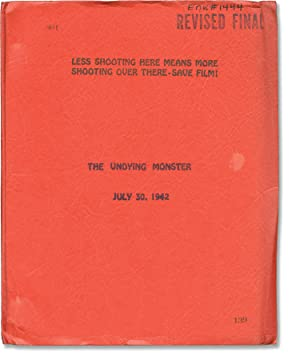 The Undying Monster (Original screenplay for the 1942 film)