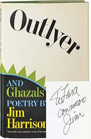 Outlyer and Ghazals (Signed First Edition): Harrison, Jim