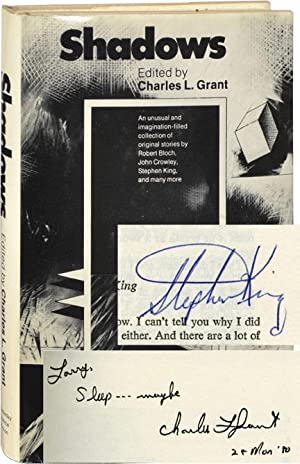 Shadows (First Edition, signed by Charles L. Grant and Stephen King)