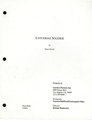 Universal Soldier (Two draft scripts for the 1992 film): Emmerich, Roland (director) Dean Devlin (...