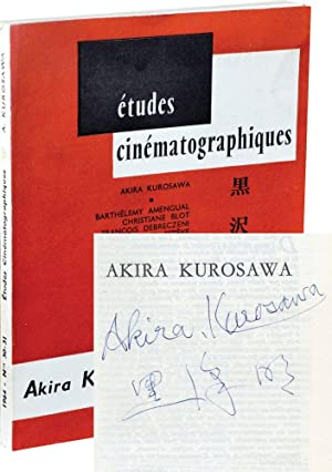 Etudes Cinematographiques: Akira Kurosawa (First Edition, signed by Kurosawa): Esteve, Michel (...