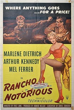 Rancho Notorious (Original poster): Lang, Fritz (director); Silvia Richards, Daniel Taradash (...