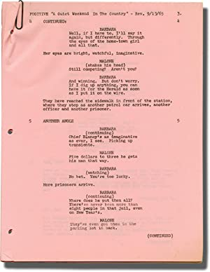 The Fugitive (Original revision pages for two episodes from the 1963-1967 television series): ...