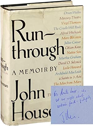 Run-through: A Memoir (First Edition, Inscribed to Anita Loos)