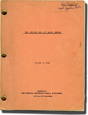 The Private War of Major Benson (Original screenplay for the 1955 film, actor Butch Jones' ...