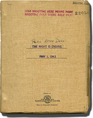 Paris After Dark [The Night Is Ending] (Original screenplay for the 1943 film)
