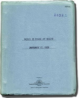 News Is Made at Night (Original screenplay: Werker, Alfred L.