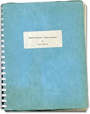 Federico Fellini: A Poet of Reality (First Edition): Fellini, Federico] Goldberg, Toby
