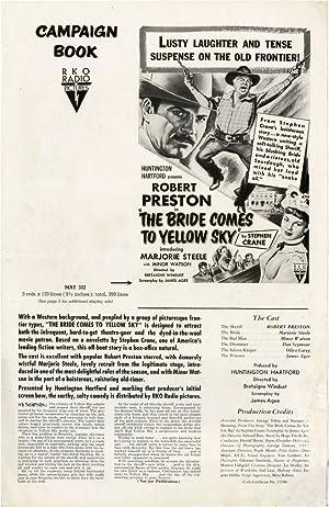 The Bride Comes to Yellow Sky (Original Film Pressbook): Windust, Bretaigne (director); Stephen ...