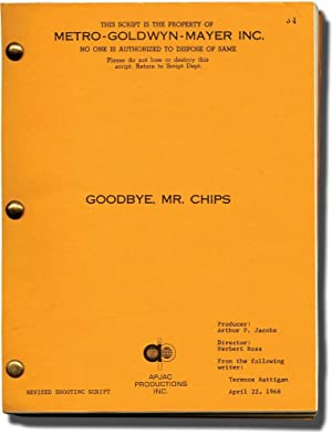 Goodbye, Mr. Chips (Original screenplay for the 1969 film)