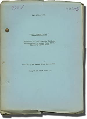 Man About Town (Post-production script for the 1932 film)