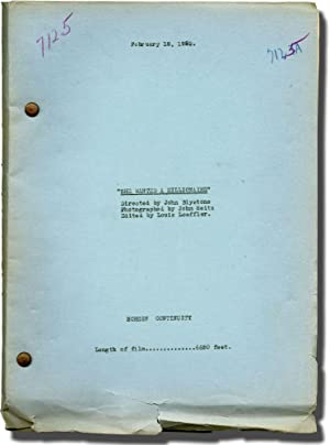 She Wanted a Millionaire (Post-production script for the 1932 film)