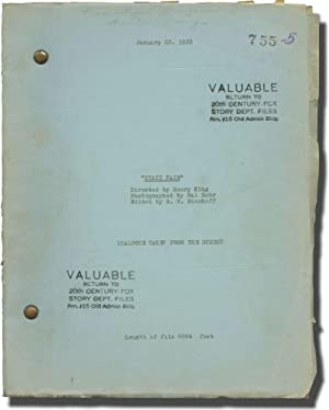 State Fair (Post-production script for the 1933 film)