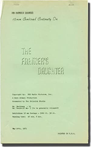 The Farmer's Daughter (Post-production script for the 1947 film): Potter, H.C. (director); ...