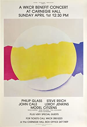 A WKCR benefit Concert at Carnegie Hall, April 1, 1979 (Original Poster): Reich, Steve with Philip ...