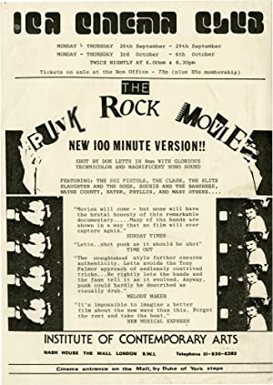 Punk Rock Movie (Original handbill from the film's earliest showing in the London): Punk] [...