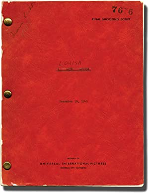 Louisa (Original screenplay for the 1950 film): Hall, Alexander (director); Roberts, Stanley (...