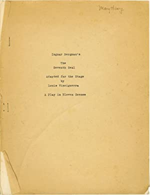 The Seventh Seal: A Play in Eleven Scenes (Original script for the play, actress Mary Henry's ...
