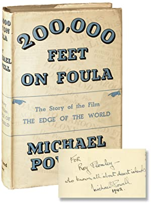 200,000 Feet on Foula [The Edge of the World] (First UK Edition, inscribed by Michael Powell in 1...