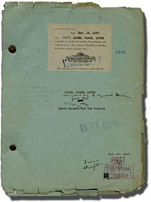 Laugh, Clown, Laugh (Original screenplay for the 1928 film, original typescript with red intertit...