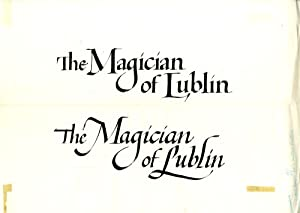 The Magician of Lublin (Collection of three original title card maquettes for the 1979 film): Adler...