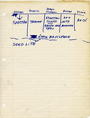 Spectro-Mach 1 production archive: Snyder, Don (director); John Cale, Angus MacLise, Ralph Metzner,...