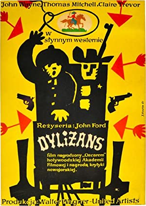 Dylizans [Stagecoach] (Original poster for the 1939 film)