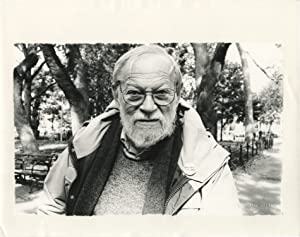 Photograph of Amos Vogel by Gerard Malanga, 2004, signed by Malanga