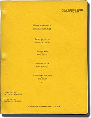 The Paradine Case (Original screenplay for the 1947 film, Final Shooting Script, dated December 1...