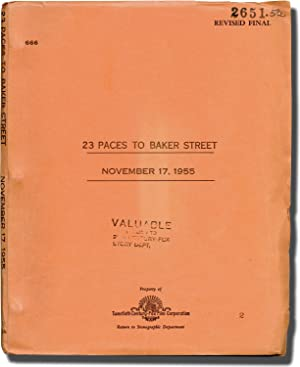 23 Paces to Baker Street (Original screenplay for the 1956 film)