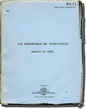 The Remarkable Mr. Pennypacker (Original screenplay for the 1959 film)
