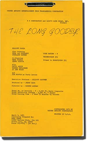 The Long Goodbye (Post-production script for the 1973 film)