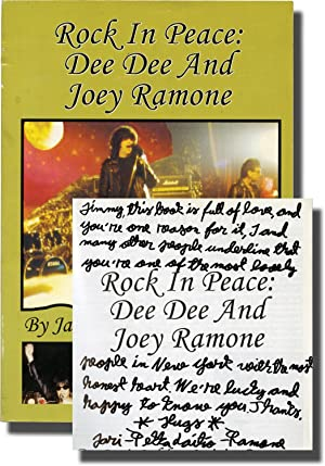 Rock In Peace: Dee Dee and Joey Ramone (Signed First Edition): The Ramones] Laitio-Ramone, ...