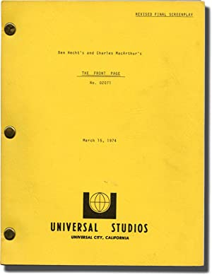 The Front Page (Original screenplay for the 1974 film)