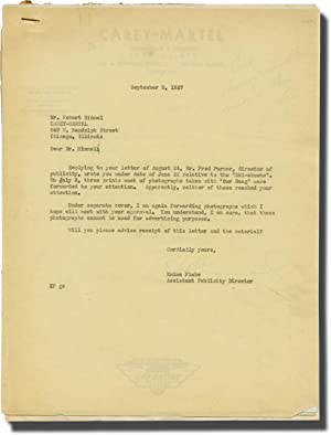 Archive of letters from the Hal Roach Studios relating to