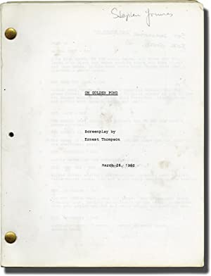 On Golden Pond (Original screenplay for the 1981 film): Rydel, Markl (director); Ernest Thompson (...