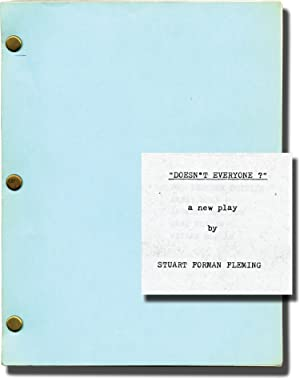 Doesn't Everyone (Photocopied script for an unproduced play): Graham, Norman Spencer (...
