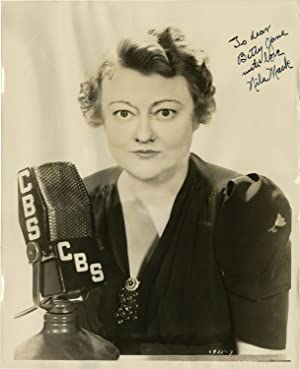 Original Photograph of Nila Mack inscribed to Betty Jane Tyler