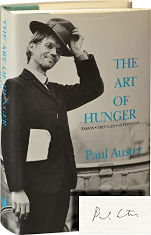 The Art of Hunger (Signed First Edition): Auster, Paul